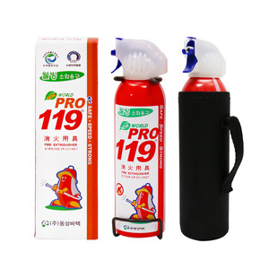 휴대용소화기 WORLD PRO-119 RED/ 255ml/396ml